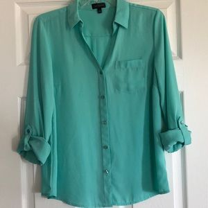 The Limited Turquoise Blouse